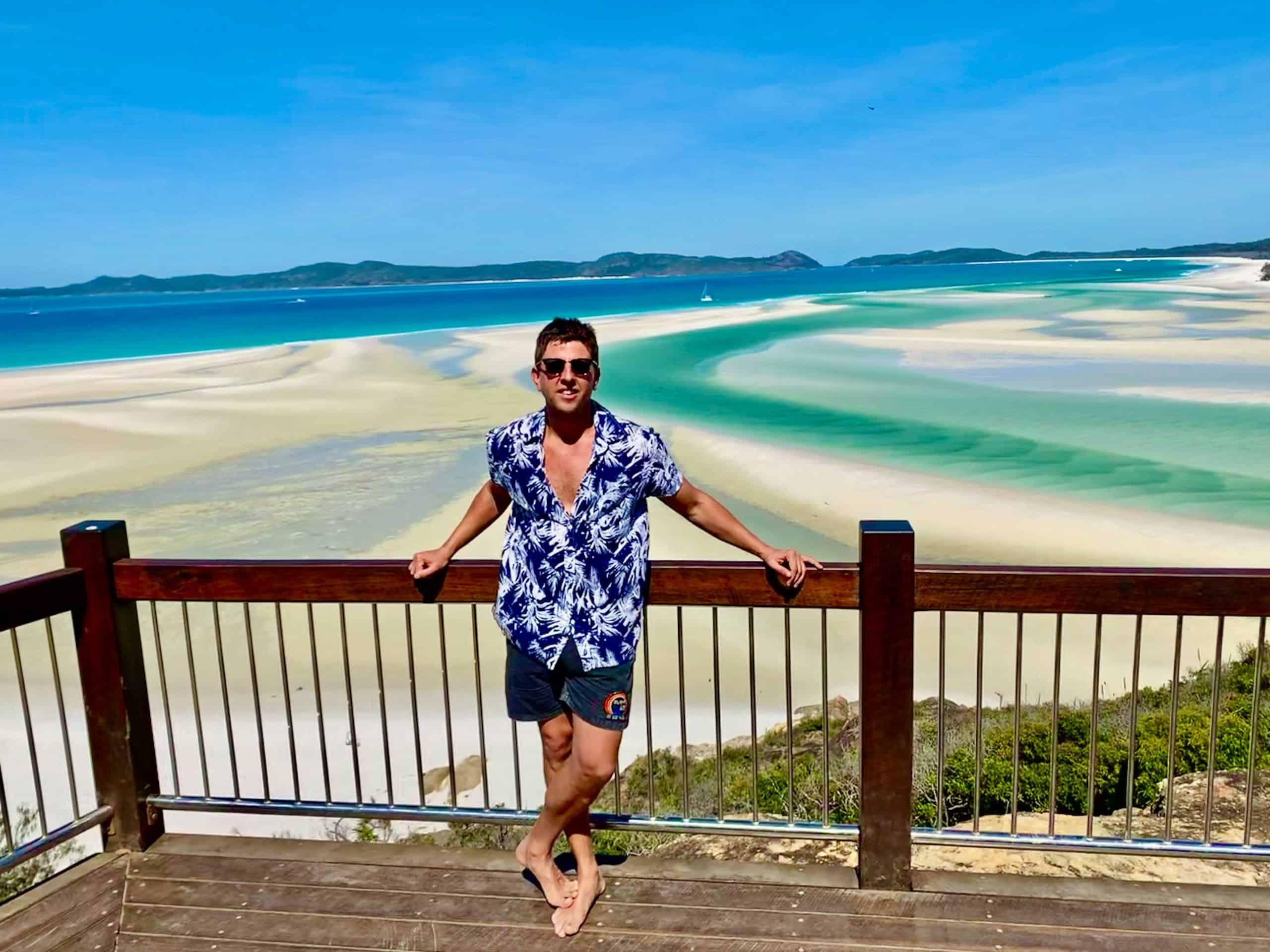 whitehaven beach lookout whitesunday islands