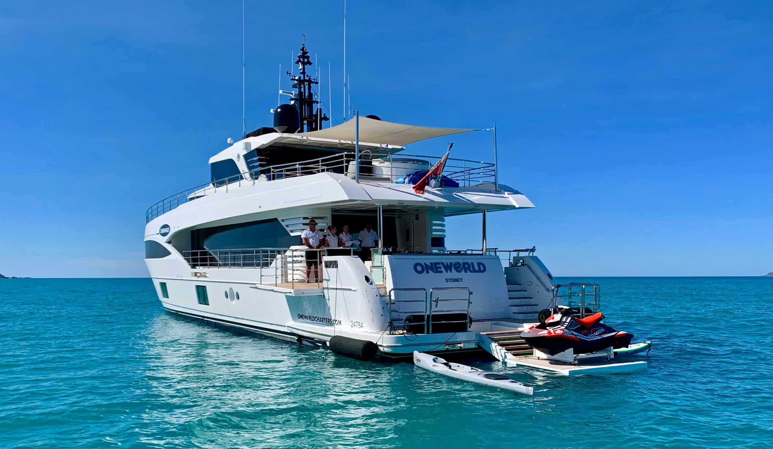 oneworld yacht charter hamiltonm island